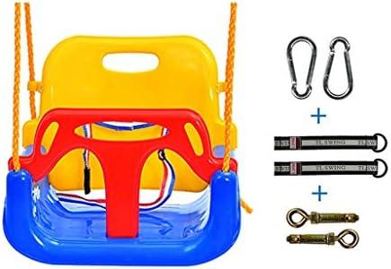 折りたたみスイング 子供のおもちゃスイングスリーインワン幼児調節可能な椅子ハイバックスイングチェアプラスチック安全で耐久性のある取り外し可能な屋内と屋外の遊び場 調整可能なスイング (Color : Blue-D)