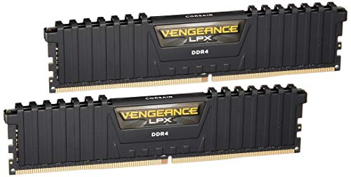 Corsair Vengeance LPX 16GB (2x8GB) DDR4 DRAM 3200MHz C16 Desktop Memory Kit - Black (CMK16GX4M2B3200C16) (Ddr Pc 3200 Kit)