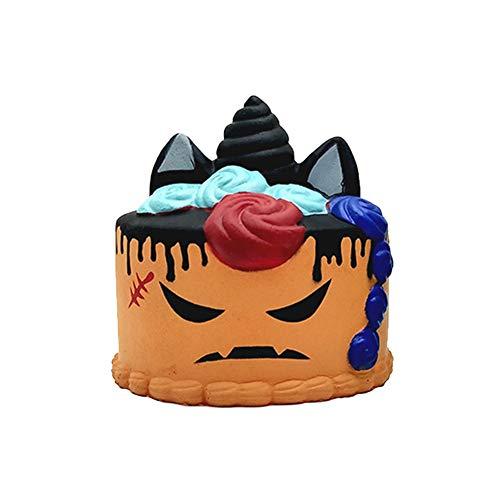 Creative Halloween Slow Rebound Unicorn Cake Doll Set Model Decompression -