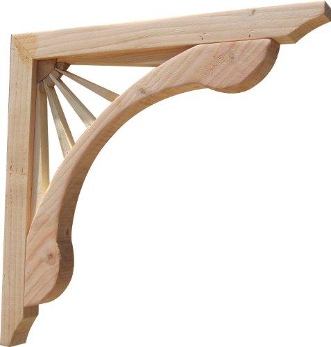 SamsGazebos Designer Wood Corbels, 2-pack, Sunburst, 16'' x 16'' x 1-5/8'' by SamsGazebosTM