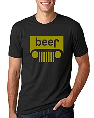 Beer Logo | Jeep Parody Humor Alcohol | Mens Drinking Tee Graphic T-Shirt