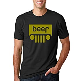 Beer Logo | Jeep Parody Humor Alcohol | Mens Drink...