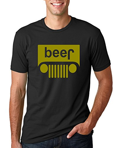 Jeep Beer Shirt Funny Off Roading T Shirt l Mens 4x4 Rock Crawler Performance Tee