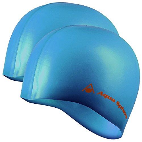Sphere Clip Aqua Nose - Aqua Sphere 2pk Tricap Adult Silicone Wrinkle Free 100% UV Protection Swim Cap