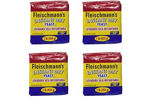 Fleischmann's Instant Yeast - 2 Count/each 16 oz. bags (4 Pack) by Fleischmann's (Image #1)