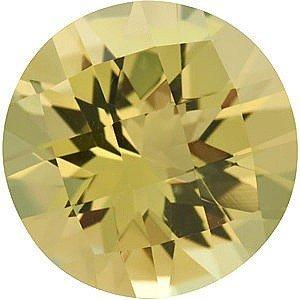 Round Shape Checkerboard Lemon Quartz Gemstone Grade AA, 12.00 mm in Size, 5.25 (Carats Round Checkerboard Shape)