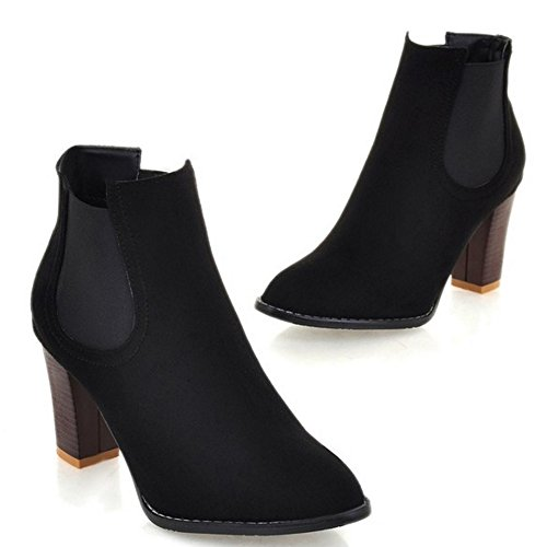 COOLCEPT Botines Chelsea para Mujer Black
