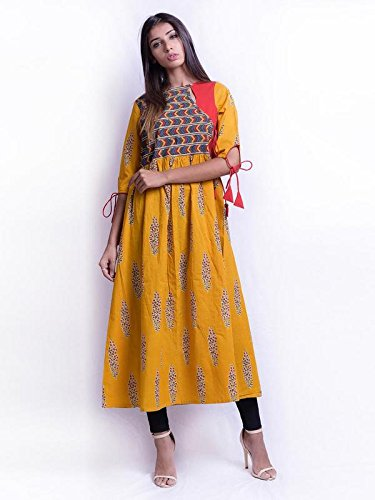 be668a76a0b Bliss cotton stylist gathered kurti  Amazon.in  Clothing   Accessories