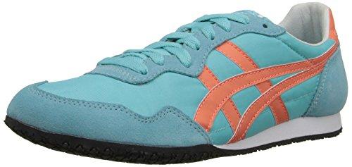 Onitsuka Tiger Women's Serrano Classic Running Shoe, Blue Radiance/Fresh Salmon, 5.5 M US