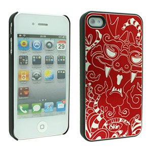 iSkin Dragon Case for iPhone 4S - Retail Packaging - Red ()