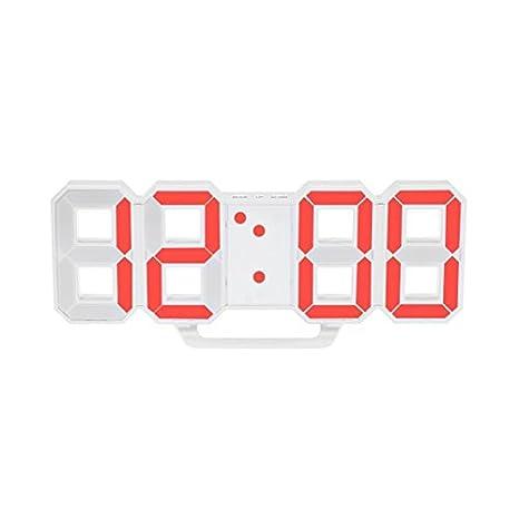 Reloj de pared LED de gran tamaño de diseño moderno reloj digital Reloj de temporizador de decoración de casa única vintage Reloj despertador: Amazon.es: ...