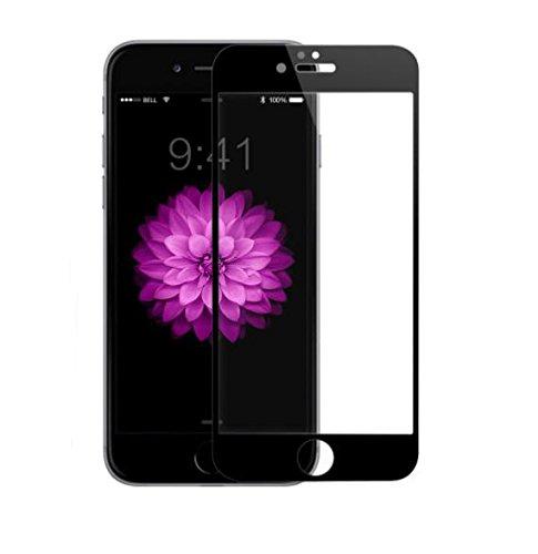 自殺寮処方Romantic Angels iPhone 6 / 6S Plus ガラスフィルム保護フィルム 強化ガラス炭素繊維3D曲面 気泡無/ 硬度9H / 指紋防止 (5.5インチ) (黒)