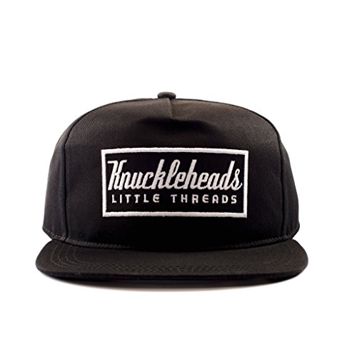 Knuckleheads Clothing Baby Boy Infant Trucker Hat Snap Back Sun Mesh Baseball Cap (S), Black Knuckleheads