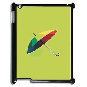 3D IPad 2,3,4 2D Cases Luxury Brand Umbrella, Umbrella Ipad Case 4 Kids [Black] by icecream design
