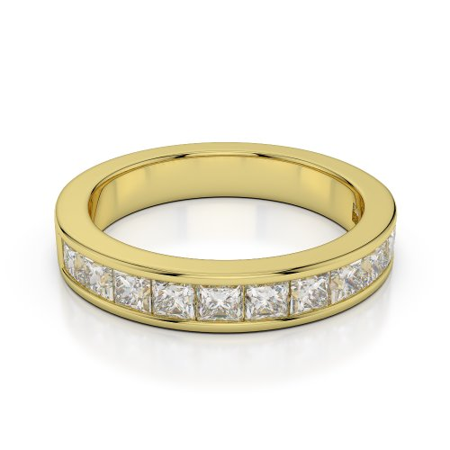 Or jaune 18carats 1CT G-H/VS Certifié Coupe ronde sertie de diamants Agdr-1137