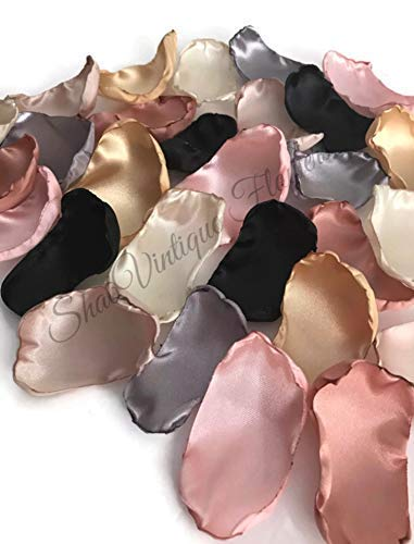 Blush-pink-silver-ivory-champagne-black-gold-and-rose-quartz-mix-of-50-flower-petals