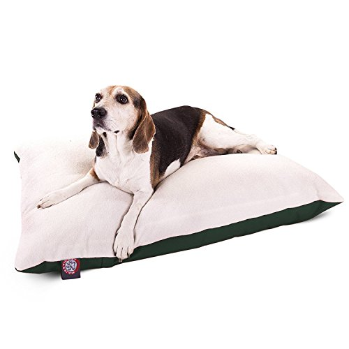 30x40 Green Rectangle Pet Dog Bed With Removable Washable Cover By Majestic Pet Products Small to Medium