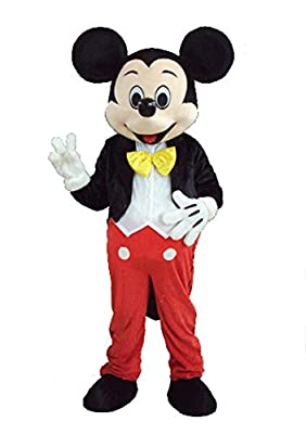 JWUP Classic Design Plus Size Christmas Costumes Mickey Mouse Mascot Costume Cosplay Character Costume