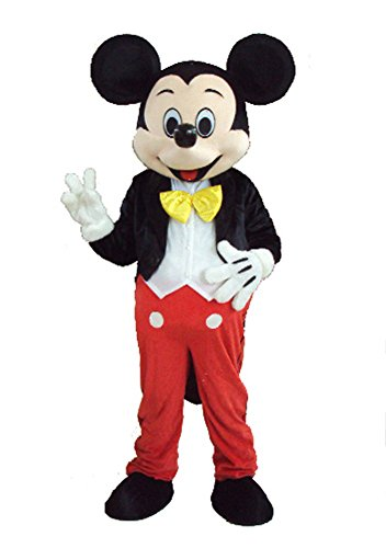 Mickey Mascot Costumes (JWUP Classic Design Plus Size Christmas Costumes Mickey Mouse Mascot Costume Cosplay Character Costume)