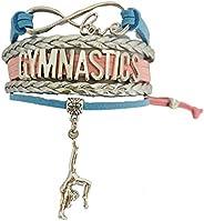 Gymnastics Bracelet- Gymnastics Infinity Charm Bracelet- Gymnastics Jewelry - Gift For Gymnast, Gymnastic Coac