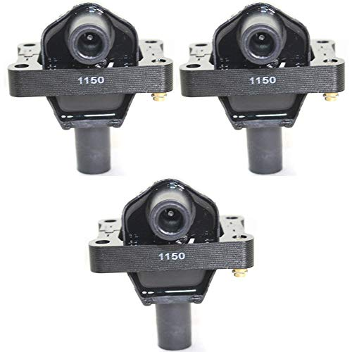 Set of 3 Coil pack Ignition Coil for Mercedes Benz 300CE 93 12V 3-prong male Stud Terminal