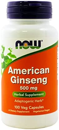 NOW Foods American Ginseng, 100 Capsules, 500 mg Pack of 3