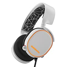 SteelSeries Arctis 5 Gaming Headset with RGB Illumination and DTS Headphone:X 7.1 Surround for PC, PlayStation 4, Xbox One, VR, Android and iOS - White