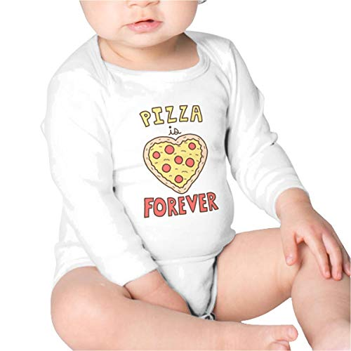 Price comparison product image Pizza is Forever Baby Bodysuit Infant Long Sleeve Baby Onesies