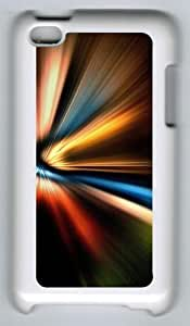 Abstract Color Warp Polycarbonate Hard Case Cover for iPod Touch 4/Apple iPod 4 ¡§C White