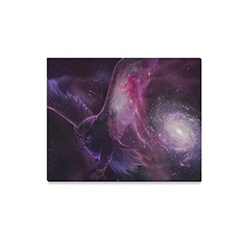 Custom Galactic Owl Wall Landscape Canvas Print Bedroom or Children Room Decoration Wall Gallery Art Feature Canvas Print 12'' X16'' by Personalized Canvas Printing
