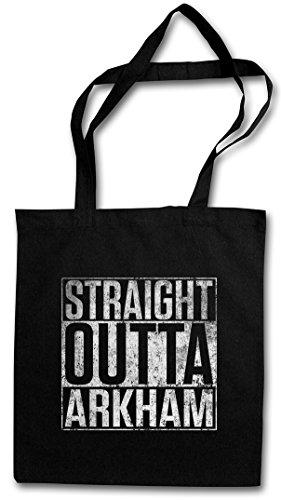STRAIGHT OUTTA ARKHAM Hipster Bag Beutel Stofftasche Einkaufstasche