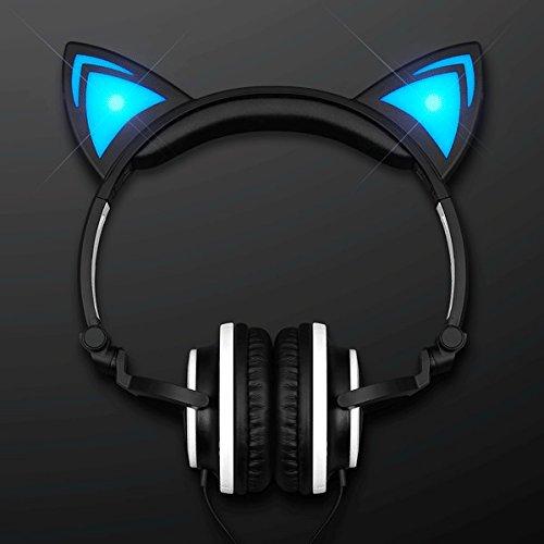 - blinkee Blue LED Kitty Cat Animal Ears Headphones by