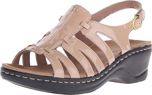Clarks Womens Lexi Marigold Q Nude Patent Sandal 12 A - Narrow