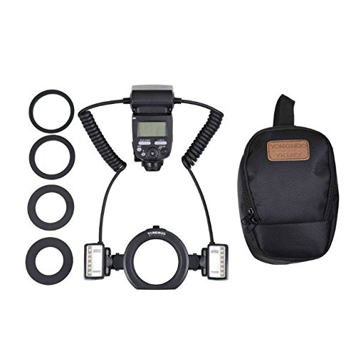 - YONGNUO YN24EX TTL Macro Ring Flash/LED Macro Flash Speedlite with 2 PCS Flash Head and 4 PCS Adapter Rings for Canon