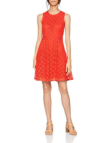 Poppy Short Donna Red Lace Noos Poppy L Moda Vmsimone Vero Rosso Dress S Red Vestito w4qXaO