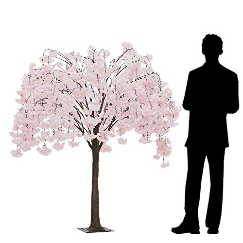 Event Decor Direct 5.5FT Drooping Hydrangea Bloom Tree - Floor or Centerpiece - Blush/Light Pink