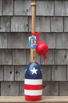 Buoy Bat Outdoor Game Ball and Bat Set - Red, White, and Blue Stars & Stripes Series made in New England