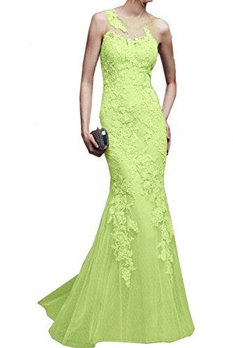 Damen Grün Spitze Abendkleider Ivydressing Ballkleid Promkleider Lang Meerjungfrau Elegant ARxRd78Fn
