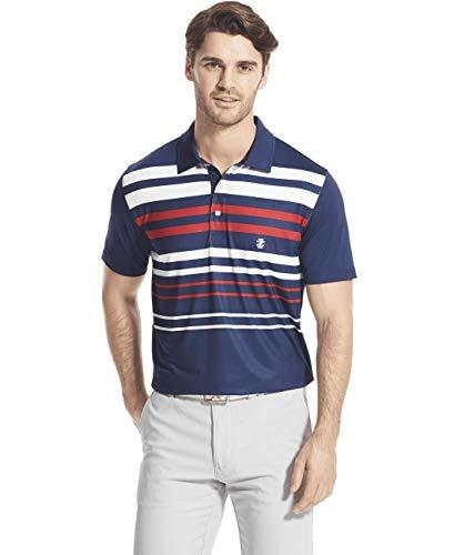 IZOD Men's Golf Fashion Short Sleeve Polo Shirt, Club Blue, X-Large