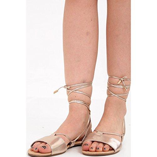 Scintillent De amp; 42 Gladiator 36 Ayat Fashions Moulantes Momo 8 À Peep Bout Chaussure Or Sandales Taille Dames Eu 3 IvqUd