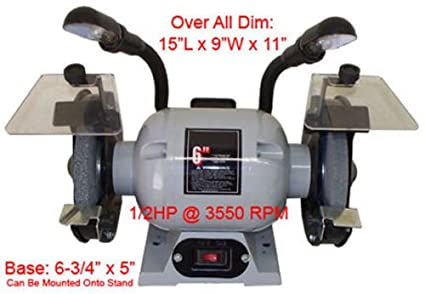 Swell 1 2 Hp Ball Bearing 6 Dual Wheel Grinder Flexible Lamp 3550 Ibusinesslaw Wood Chair Design Ideas Ibusinesslaworg