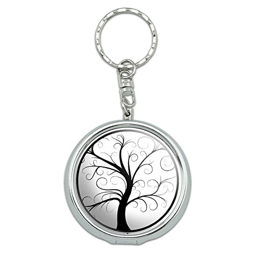 Graphics and More Portable Travel Size Pocket Purse Ashtray Keychain with Cigarette Holder Symbols - Tree of -