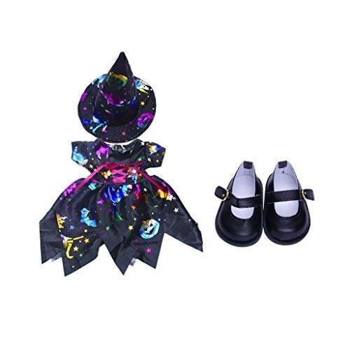 shangmu 18 inch Doll Outfit Dress Hat Suit Halloween Costume Accessory + 1 Shoes fit for 18