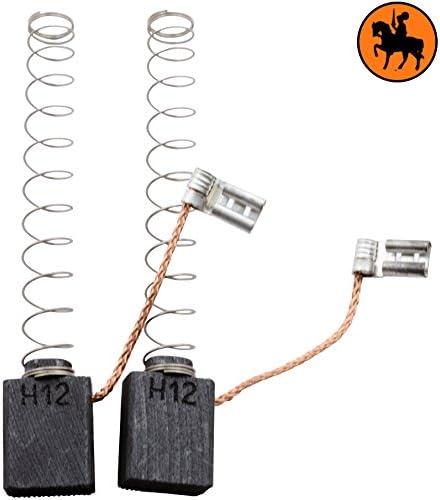 Balais de Charbon Buildalot Specialty ca-17-22502 pour AEG Scie HK55-6,3x12,5x15,5mm cable et connecteur Avec Arr/êt automatique Remplace les pi/èces dorigine 4.931.259.022 ressort