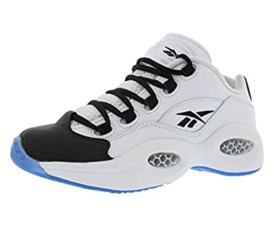 14ae09afd96 reebok Boys Question Low R13 Sneakers With Ice Sole Grade School White Black  (7)
