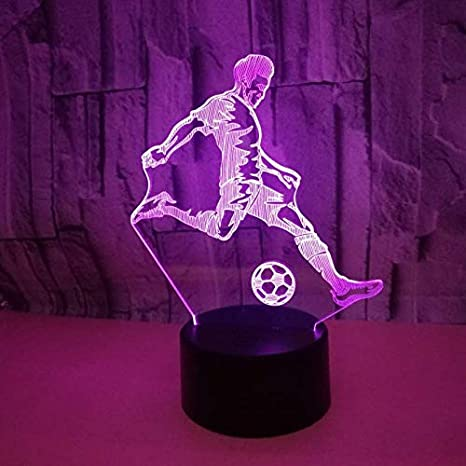 Lámpara 3D Lámpara de noche LED Mesa táctil Lámpara Jugando ...