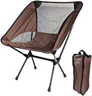 Portable Camping Chairs for Adults, Ultralight Folding Chair with Carry Bag Lightweight Foldable Compact Chair