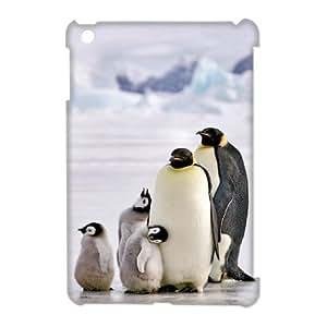 Animal Penguin 3D Custom Durable Hard Plastic Case Cover LUQ356619 For Ipad Mini