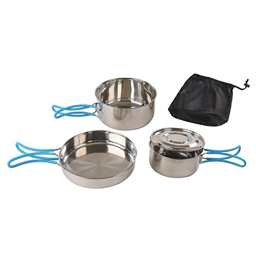 Stansport 5 Piece Stainless Steel Cook Set