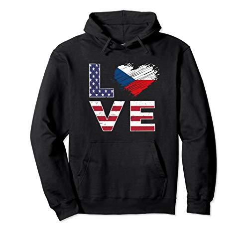 - USA Czech Republic Flag Heart Czech American Flag Shirt